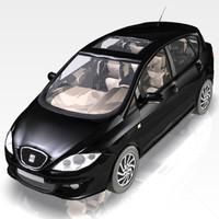 seat toledo sport car 3d model
