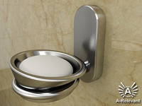 restroom soap dish 2010 3d model