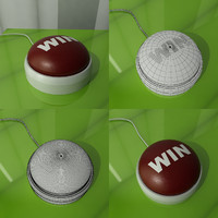 3d model win button