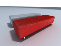 3d model bench banco diseño