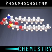 molecule phosphocholine 3d max