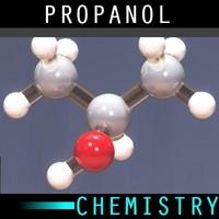molecule propanol 3d max