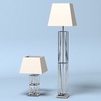leomirai modern table and floor lamp silver contemporary