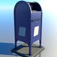obj postal mailbox mail