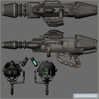 free blend mode scifi energy minigun