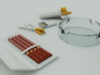 x cigarette 2 ash-trays box