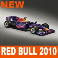 red bull f1 rb6 3d model
