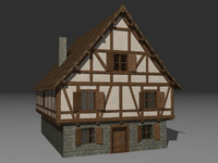 walkable medieval tavern building 3ds