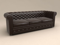 3-seat leather style sofa