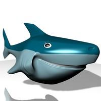 Smiling shark 3D