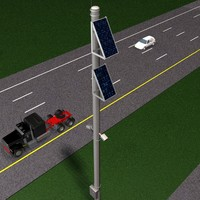 3d model solar highway sensor traffic