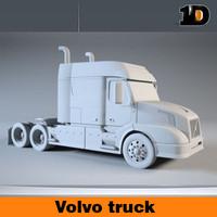 semi truck obj