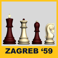 Zagreb59 Chess set