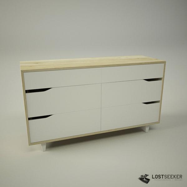 Ikea Glasvitrine Mit Beleuchtung ~ dresser 3d models ikea tags ikea mandal shelving unit dresser wardrobe