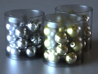 CHRISTMAS GOLD MINI GLASS BALL ORNAMENTS MAX9
