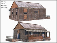 cottage shack modelled 3d model