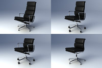 3d model eames softpad group chair