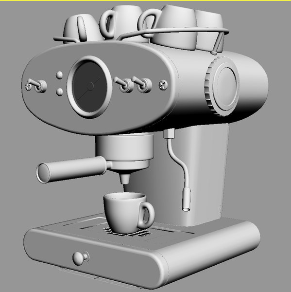 coffee maker 3d model - Coffee maker FrancisFrancis X1... by iljujjkin