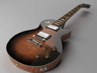 3d les paul guitar