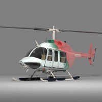3d jet ranger helicopter model