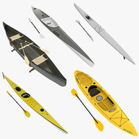 4 Kayaks and Canoe Collection