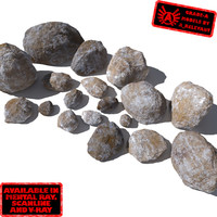 Rocks - Stones 8 Smooth RM05 - Mossy or Dirty 3D rocks or stones(1)