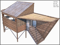 shack modelled 3d model