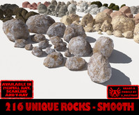 Rocks - Stones Smooth ALL - The Entire Collection of Smooth 3D rocks or stones