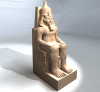 main statue abu simbel 3d model