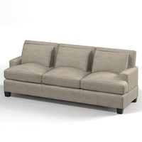 3d model of baker loose sofa