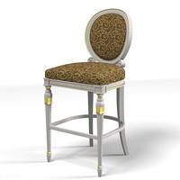3d classic bar chair