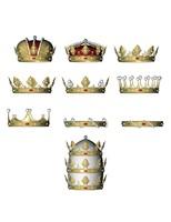 colección de coronas heráldicas