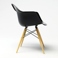 eames plastic chair 3d model