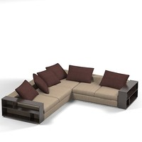 flexform contemporary sofa corner sectional