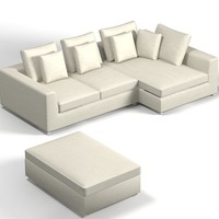 minotti modern sofa 3d model