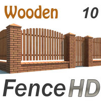 wooden fence gate 3d model
