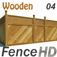 Fence Wooden Fencing HD