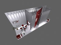exhibition trade modular 3d model