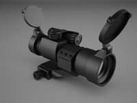 military red dot sight 3d model