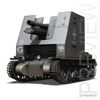- 1 tanks panzer 3d model