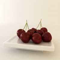 fruit cherry 3d model