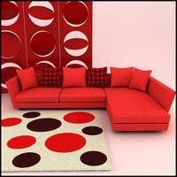 corner sofa designs 3d model