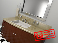 restroom counter 2010 1 3d max