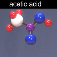 acetic acid 3d model