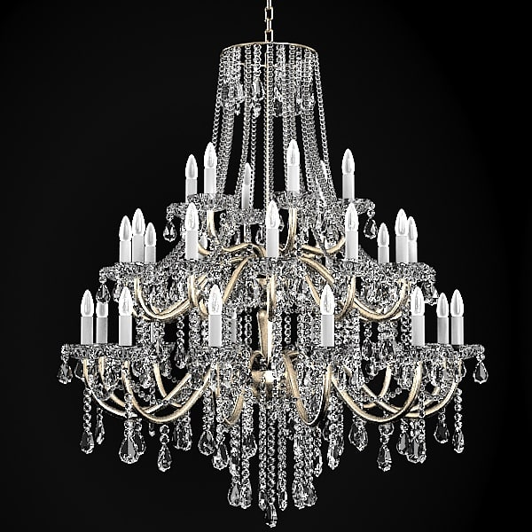 Chandelier classic crystal 3d model - Pictures of chandeliers ...