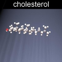 3d model of molecule cholesterol