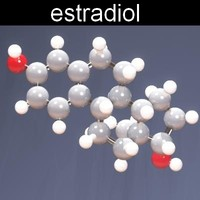 3d model molecule estradiol