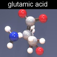 3d model molecule glutamic acid