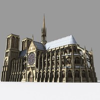 paris cathedrals 3d model