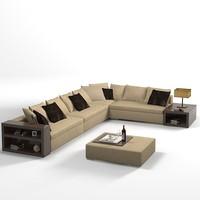 ODEON misura emme modern sofa corner pouf